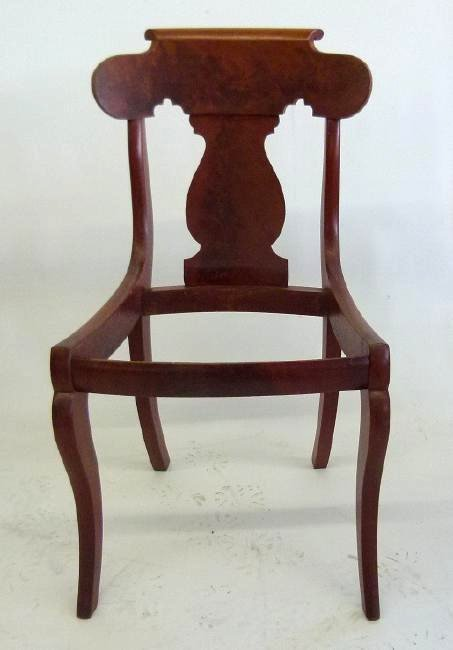 SET (4) CARVED MAHOGANY DINING ROOM CHAIRS - 6