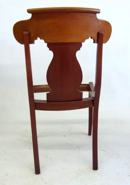 SET (4) CARVED MAHOGANY DINING ROOM CHAIRS - 9