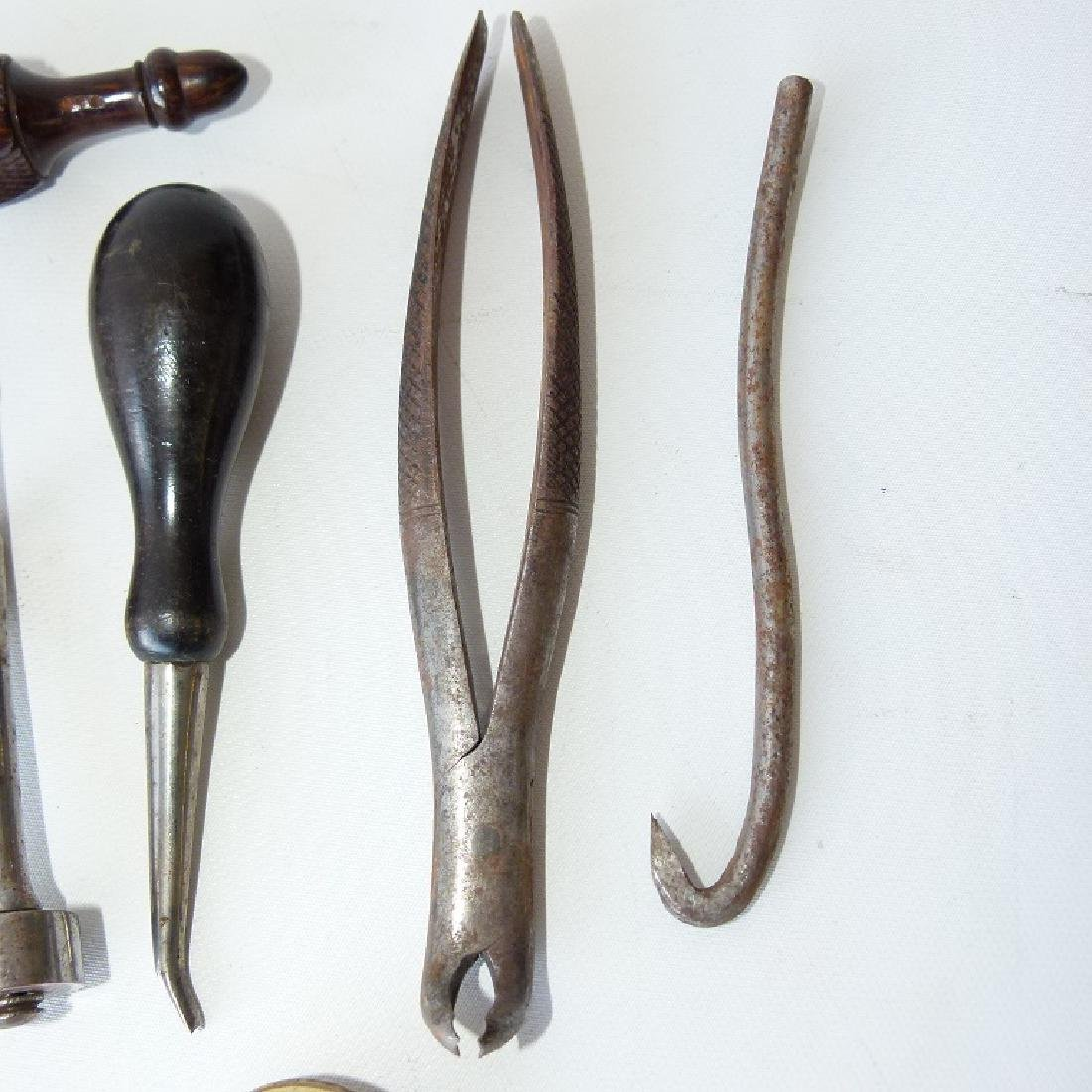 LOT CIVIL WAR ERA DENTAL TOOLS - 5