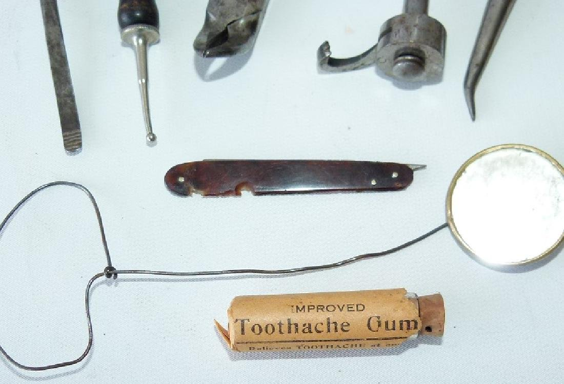 LOT CIVIL WAR ERA DENTAL TOOLS - 6