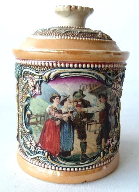 GERMAN DGRM H/P TOBACCO JAR