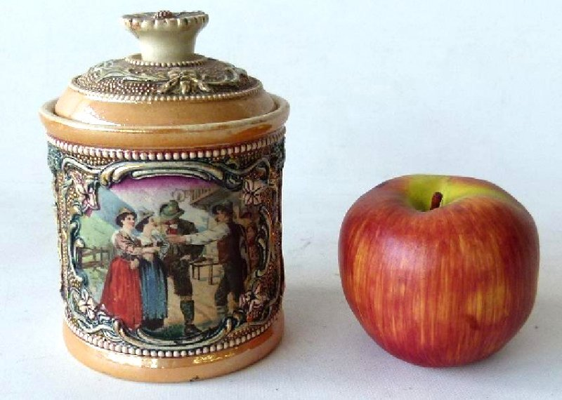 GERMAN DGRM H/P TOBACCO JAR - 2