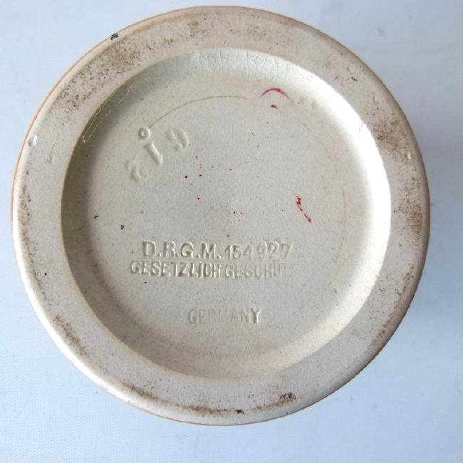 GERMAN DGRM H/P TOBACCO JAR - 9