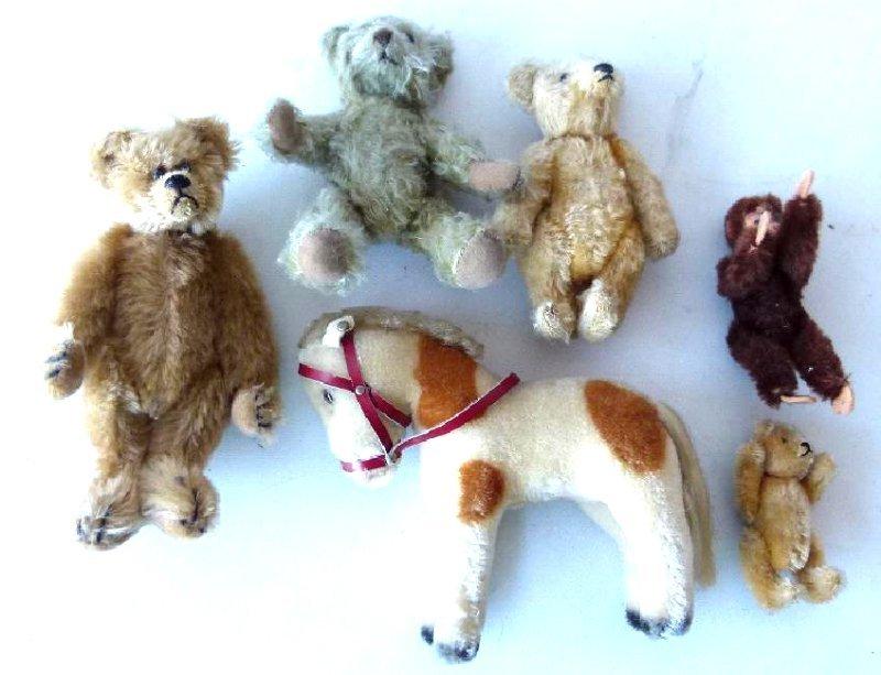 LOT (6) INCL.  EARLY MULHAIR TEDDY BEARS