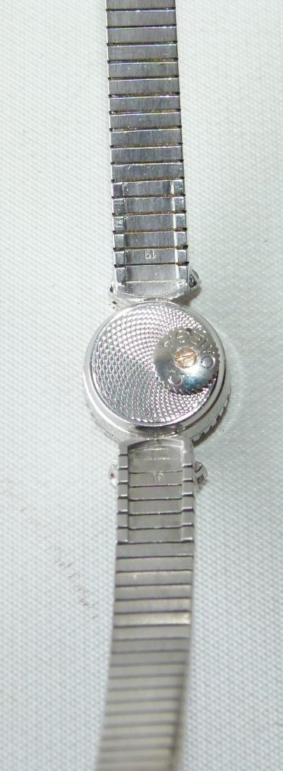 OMEGA 18KT WHITE GOLD/DIAMOND LADIES WRIST WATCH - 3