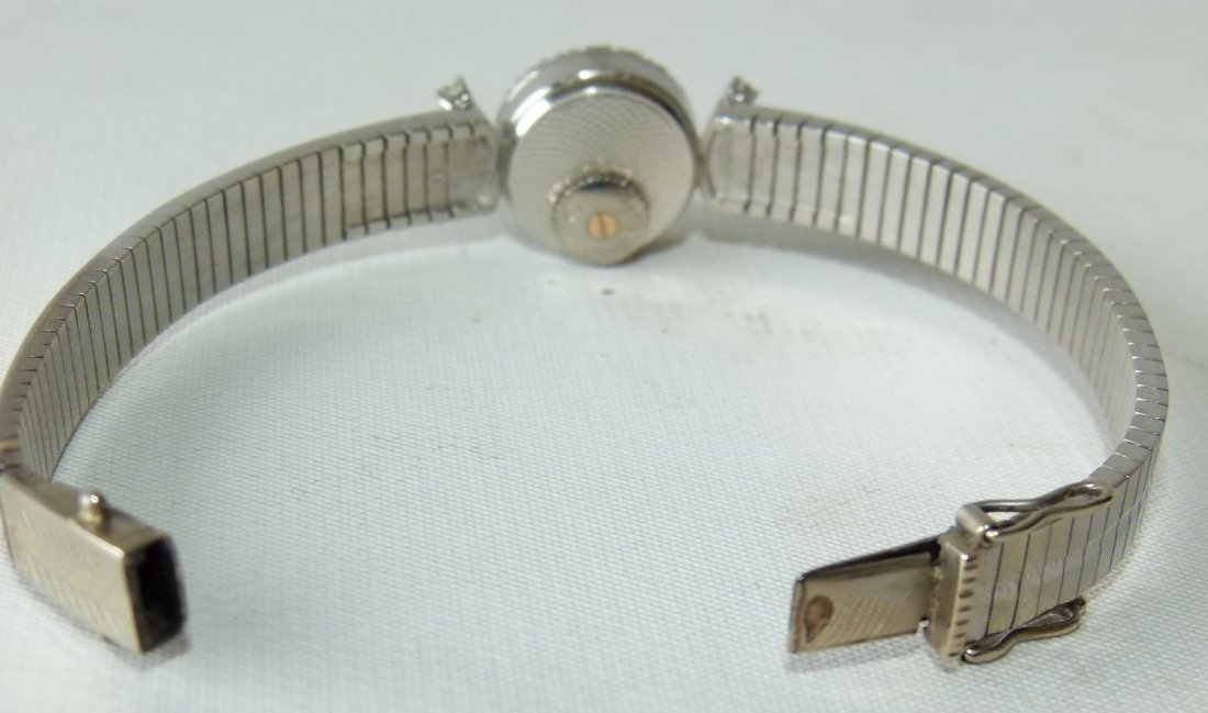 OMEGA 18KT WHITE GOLD/DIAMOND LADIES WRIST WATCH - 4