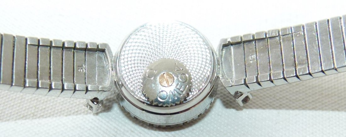OMEGA 18KT WHITE GOLD/DIAMOND LADIES WRIST WATCH - 5