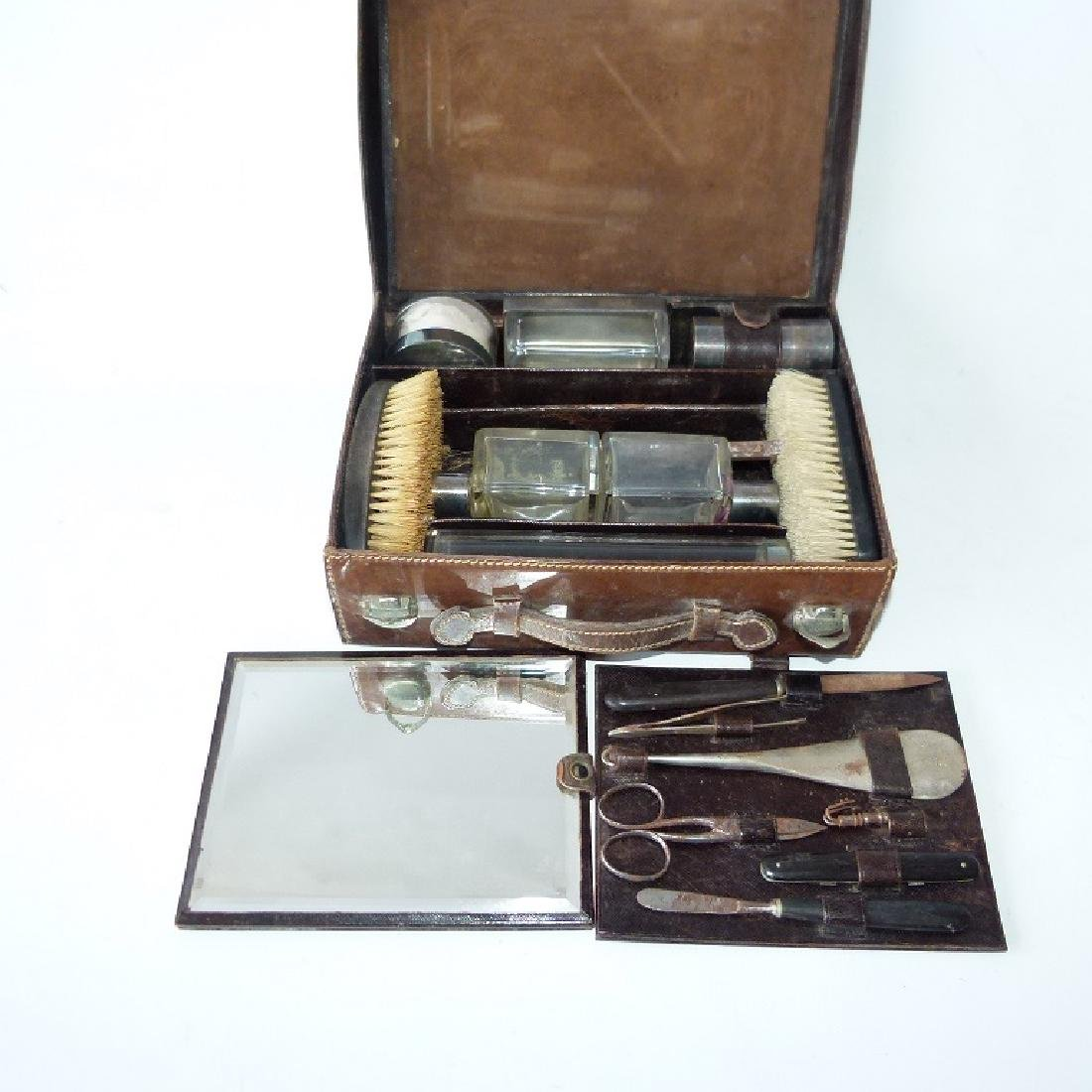 GERMAN LEATHER COSMETIC CASE - 3