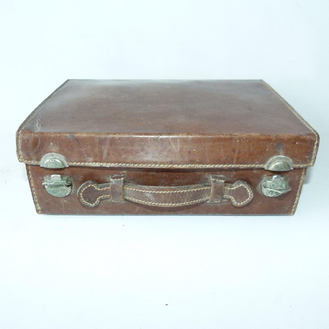 GERMAN LEATHER COSMETIC CASE - 9