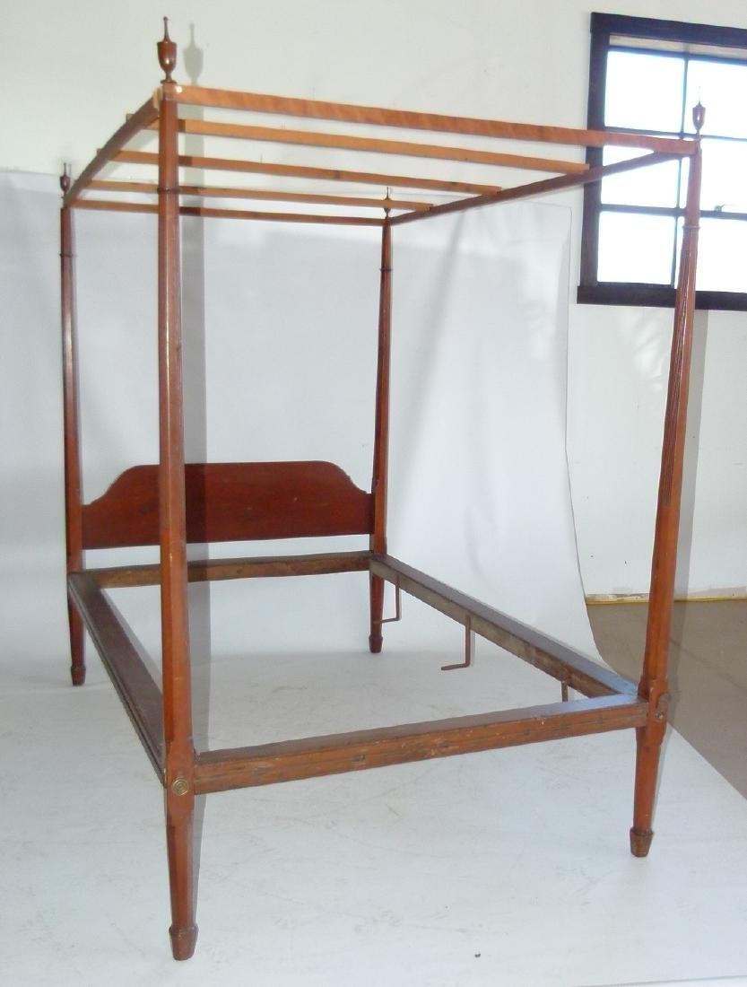 HEPPLEWHITE CHERRY PENCIL POST FULL SIZE BED