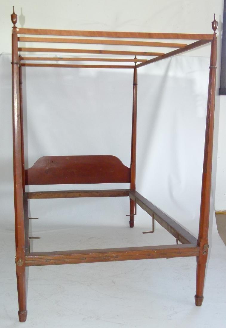 HEPPLEWHITE CHERRY PENCIL POST FULL SIZE BED - 2