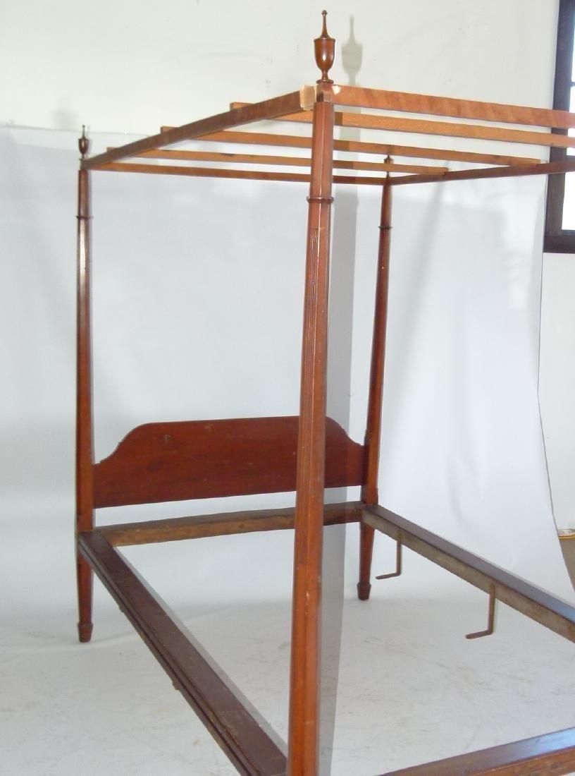 HEPPLEWHITE CHERRY PENCIL POST FULL SIZE BED - 3