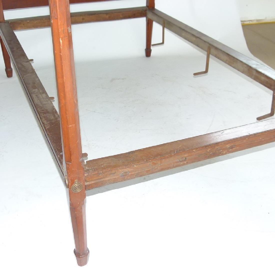 HEPPLEWHITE CHERRY PENCIL POST FULL SIZE BED - 6