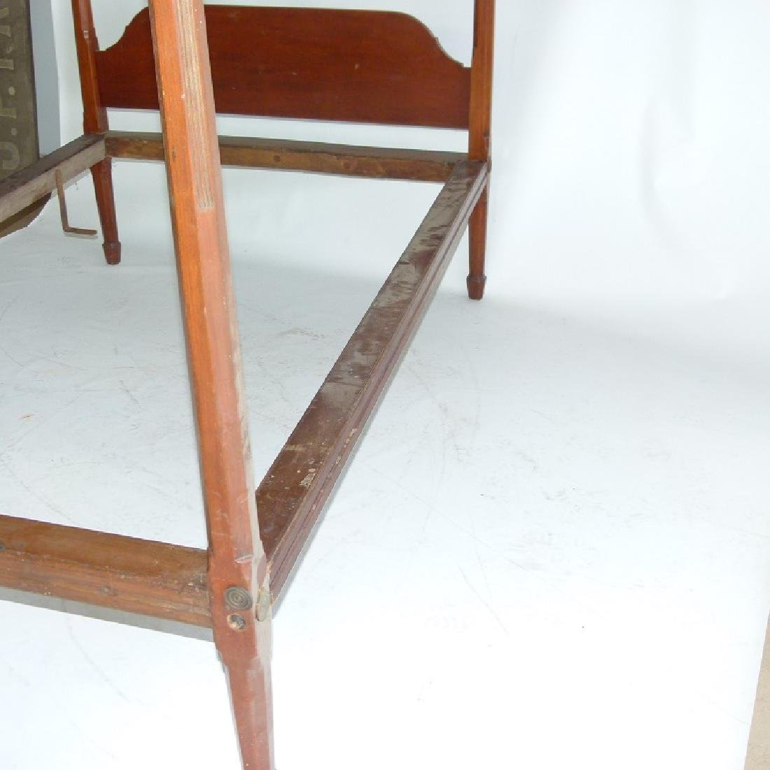 HEPPLEWHITE CHERRY PENCIL POST FULL SIZE BED - 7