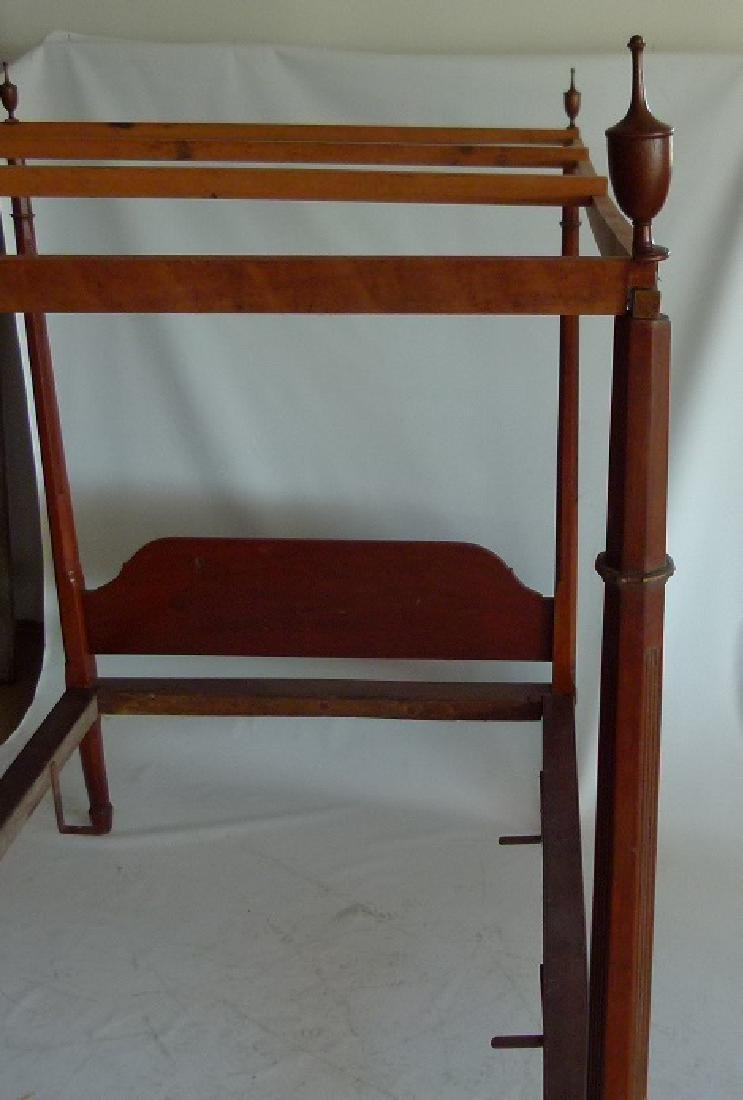 HEPPLEWHITE CHERRY PENCIL POST FULL SIZE BED - 8