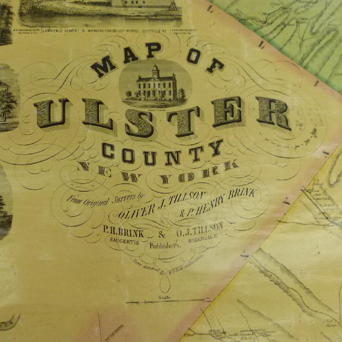 MAP OF ULSTER COUNTY NEW YORK, 1853