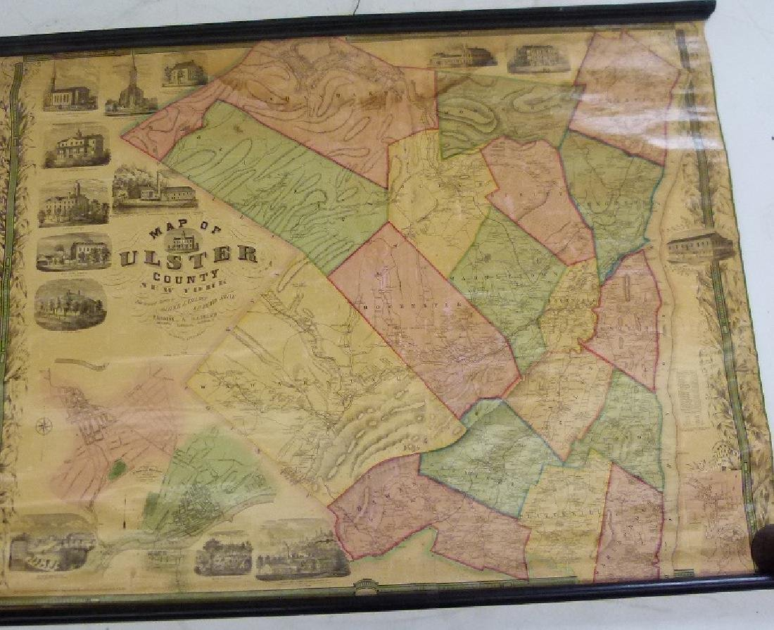 MAP OF ULSTER COUNTY NEW YORK, 1853 - 2