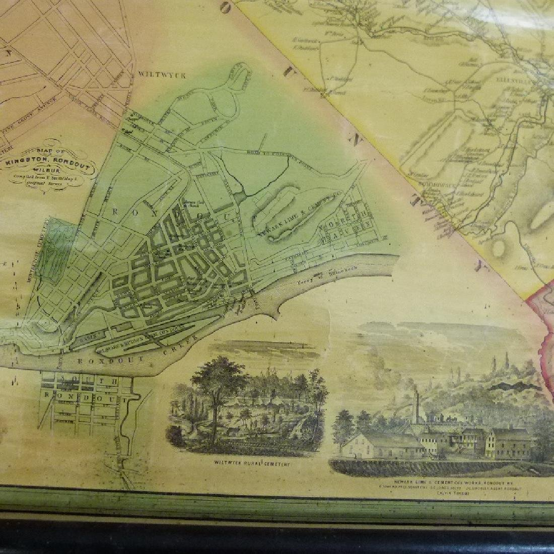 MAP OF ULSTER COUNTY NEW YORK, 1853 - 3