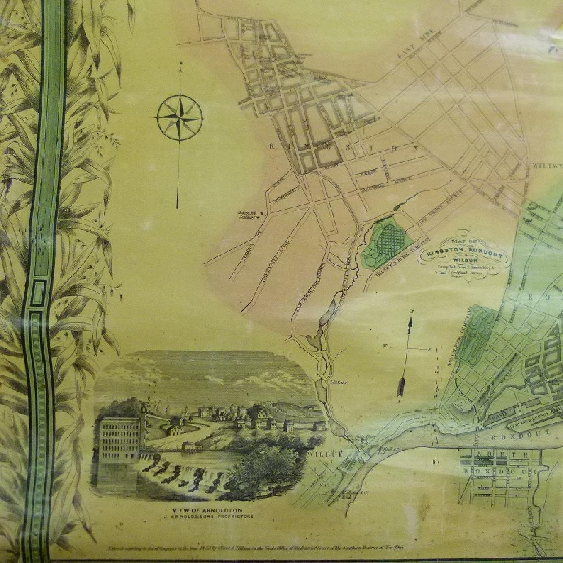MAP OF ULSTER COUNTY NEW YORK, 1853 - 4