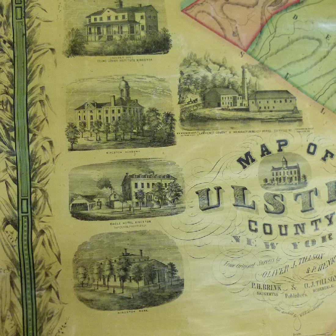 MAP OF ULSTER COUNTY NEW YORK, 1853 - 5