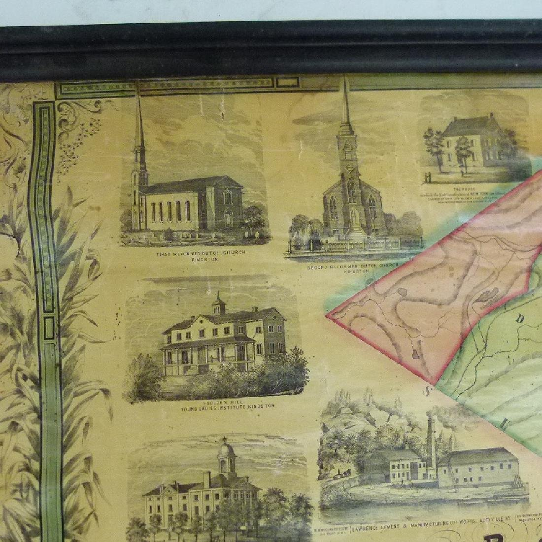 MAP OF ULSTER COUNTY NEW YORK, 1853 - 6