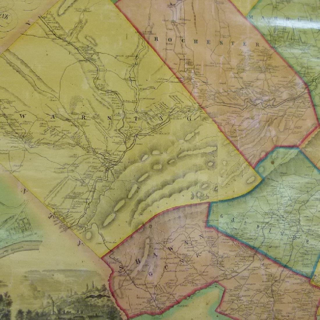 MAP OF ULSTER COUNTY NEW YORK, 1853 - 7