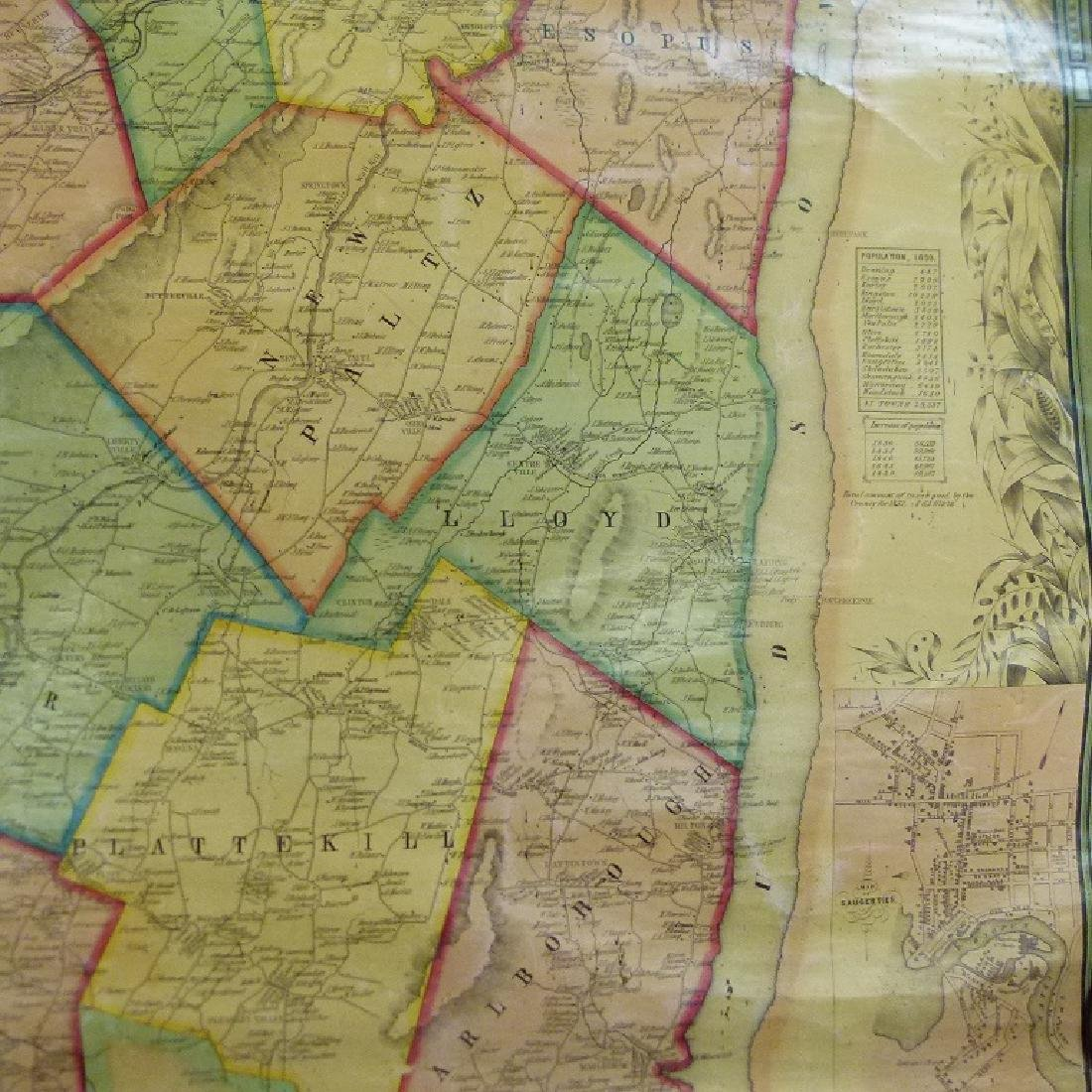 MAP OF ULSTER COUNTY NEW YORK, 1853 - 8