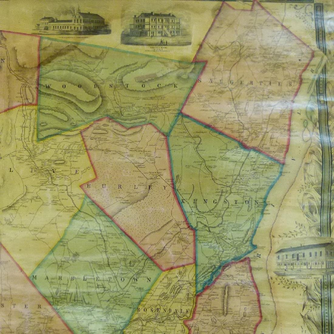 MAP OF ULSTER COUNTY NEW YORK, 1853 - 9