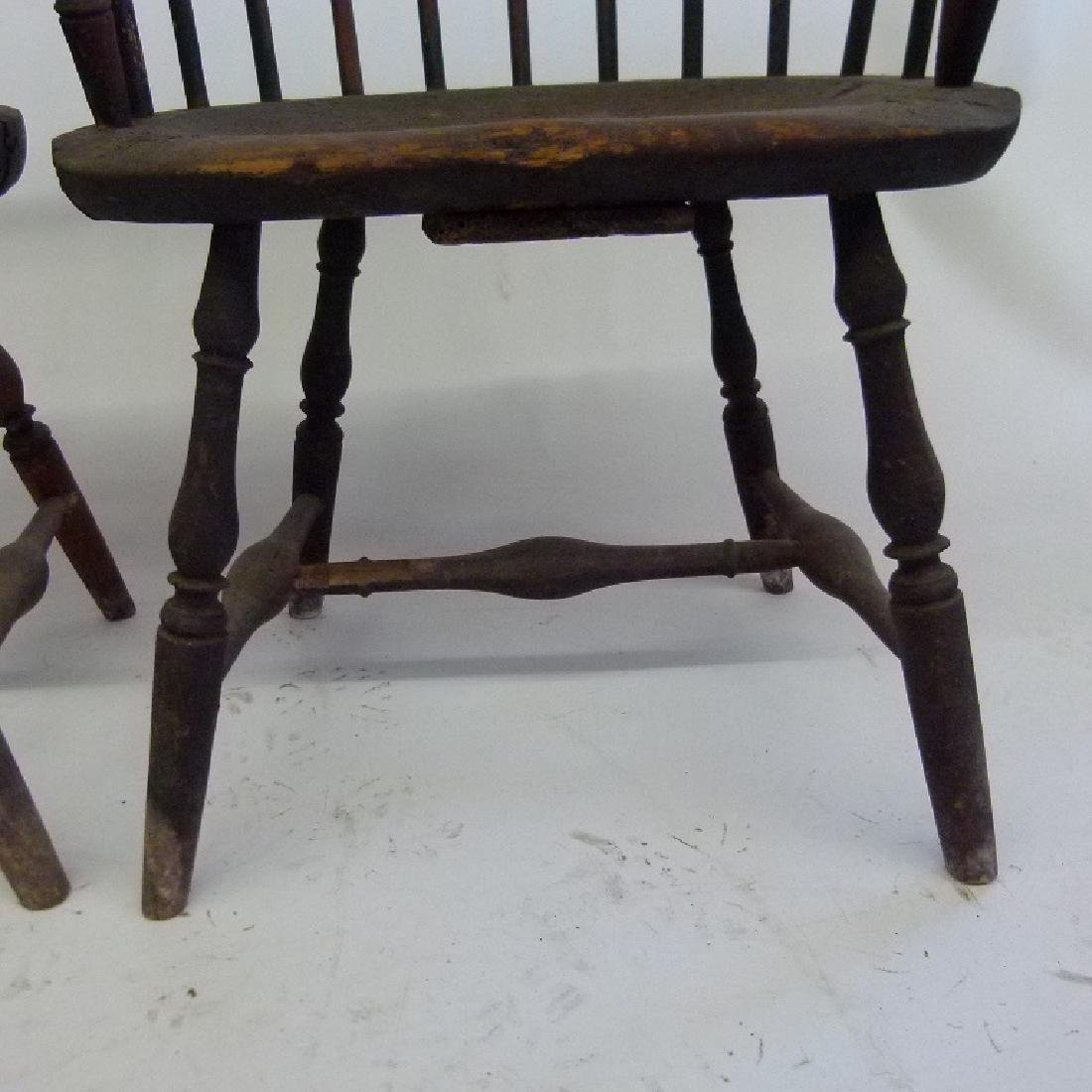 LOT (5)SACK BACK ARM WINDSOR CHAIRS, 18TH C. - 10