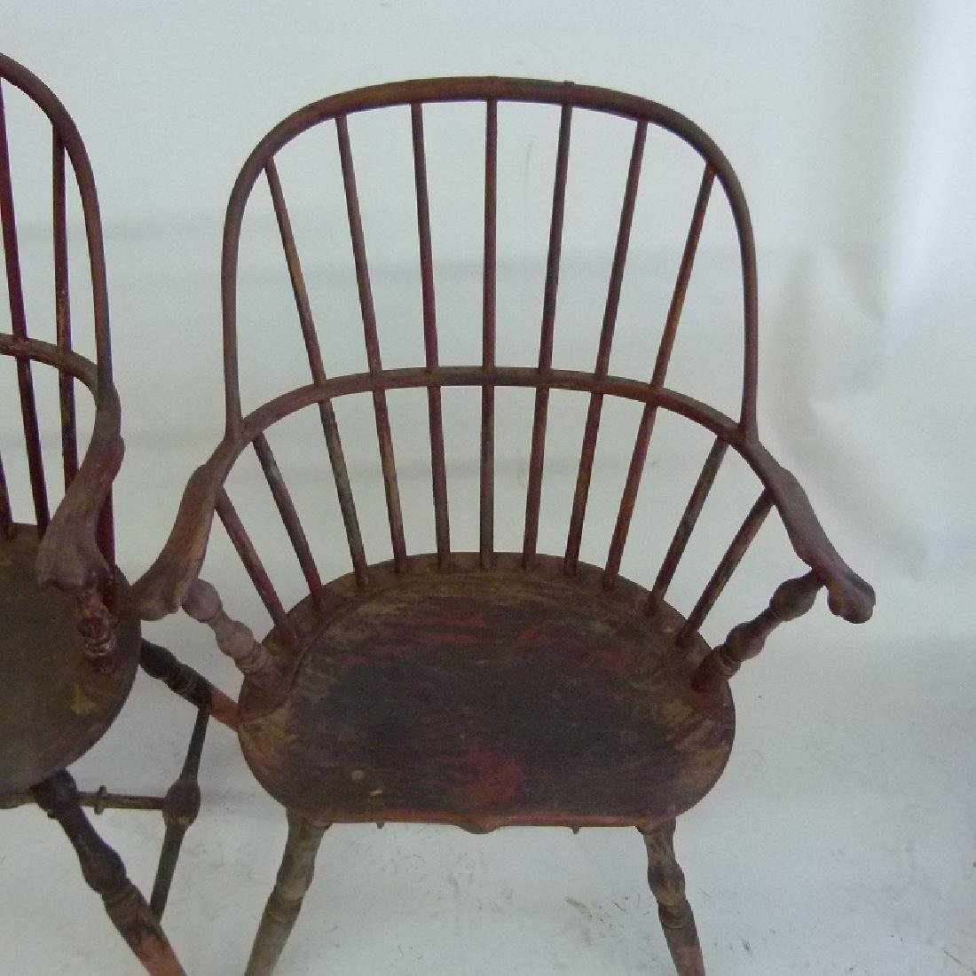 LOT (5)SACK BACK ARM WINDSOR CHAIRS, 18TH C. - 3