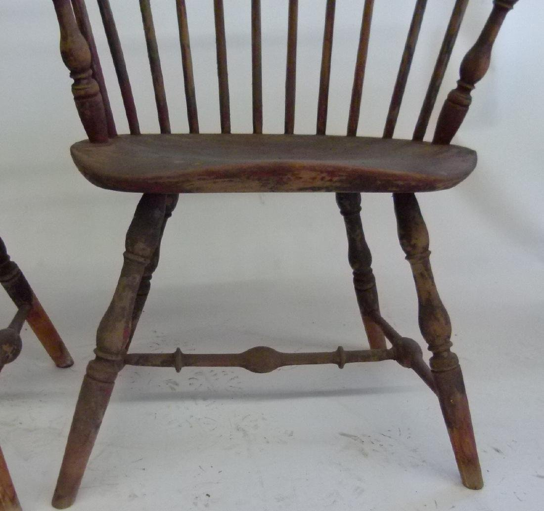 LOT (5)SACK BACK ARM WINDSOR CHAIRS, 18TH C. - 4
