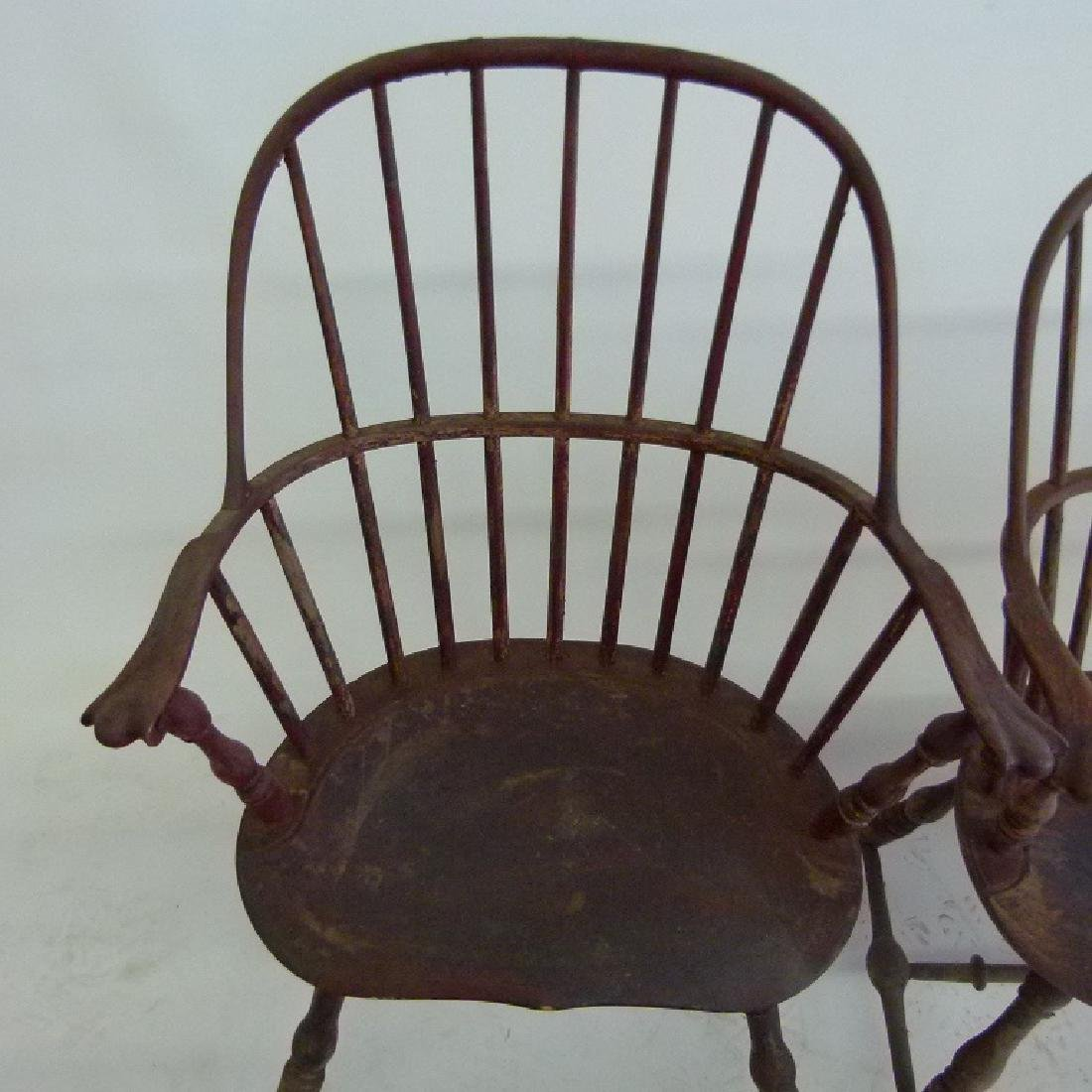 LOT (5)SACK BACK ARM WINDSOR CHAIRS, 18TH C. - 5