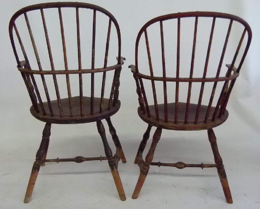 LOT (5)SACK BACK ARM WINDSOR CHAIRS, 18TH C. - 7
