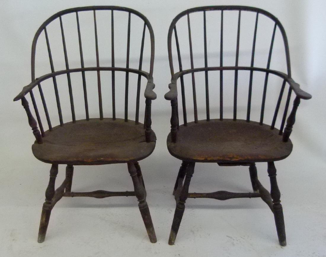 LOT (5)SACK BACK ARM WINDSOR CHAIRS, 18TH C. - 8