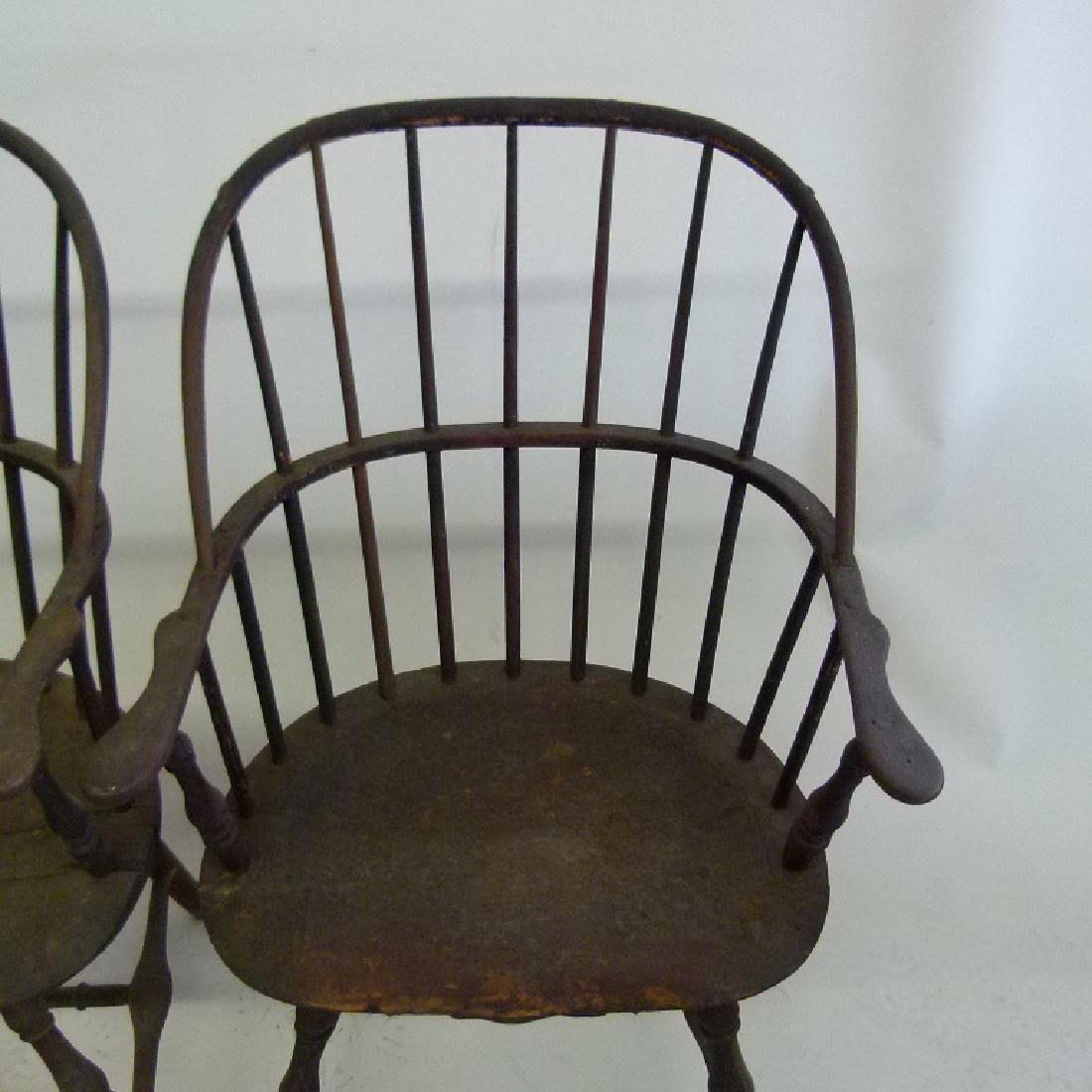 LOT (5)SACK BACK ARM WINDSOR CHAIRS, 18TH C. - 9