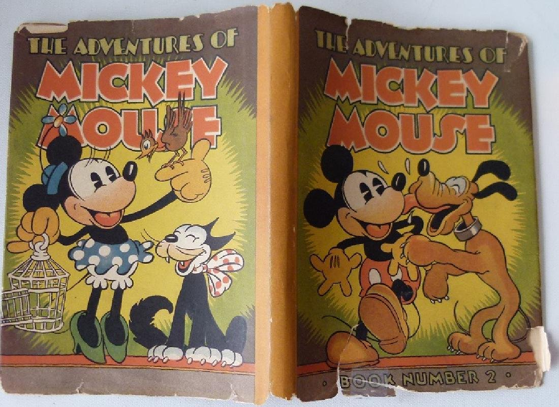 LOT (2) THE ADVENTURES OF MICKEY MOUSE - 12