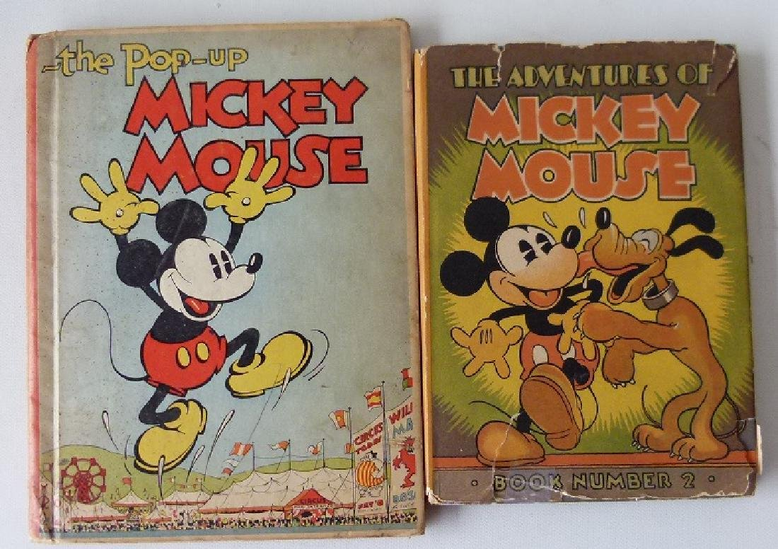 LOT (2) THE ADVENTURES OF MICKEY MOUSE