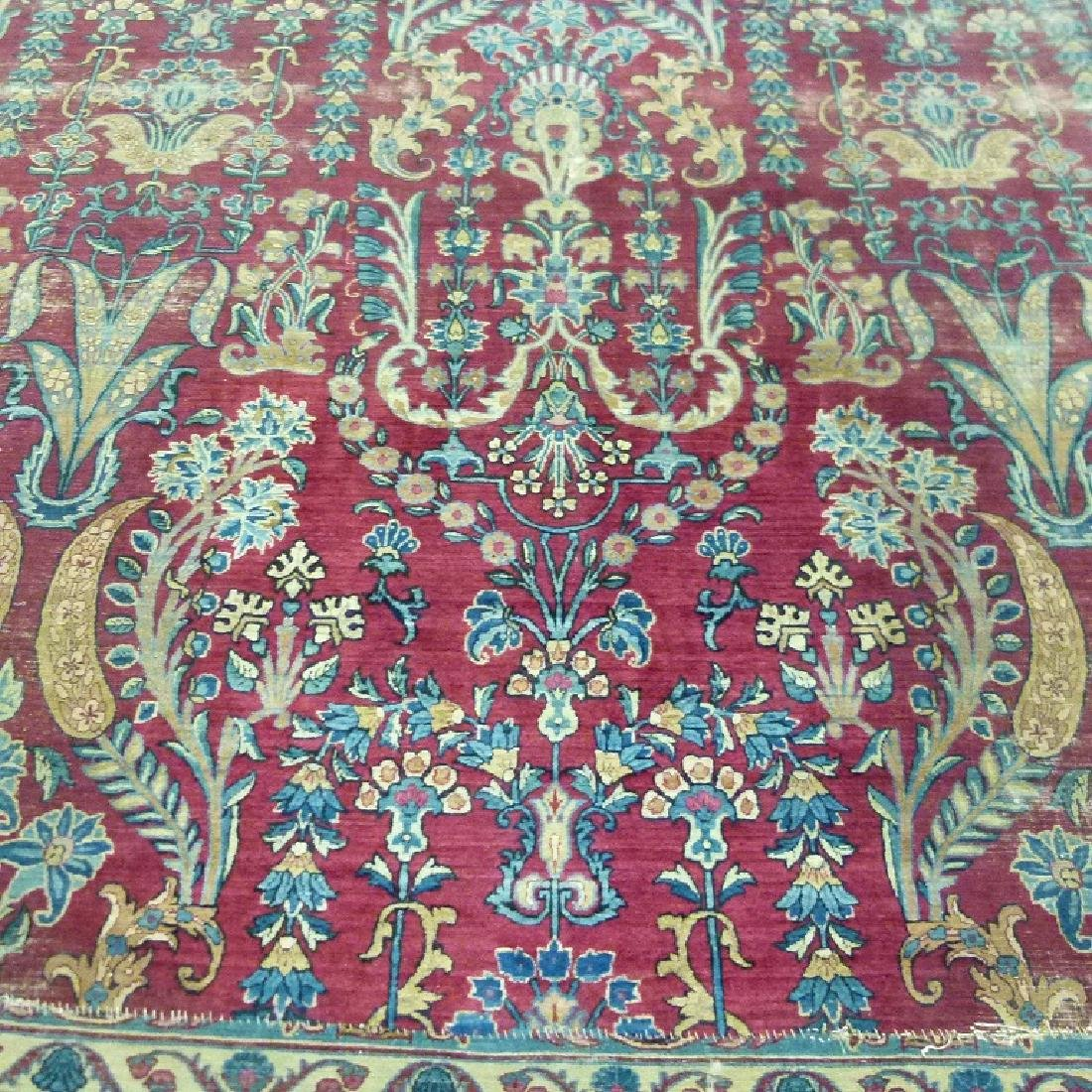 ANTIQUE SAROUK ORIENTAL CARPET (RE-SIZED) - 10