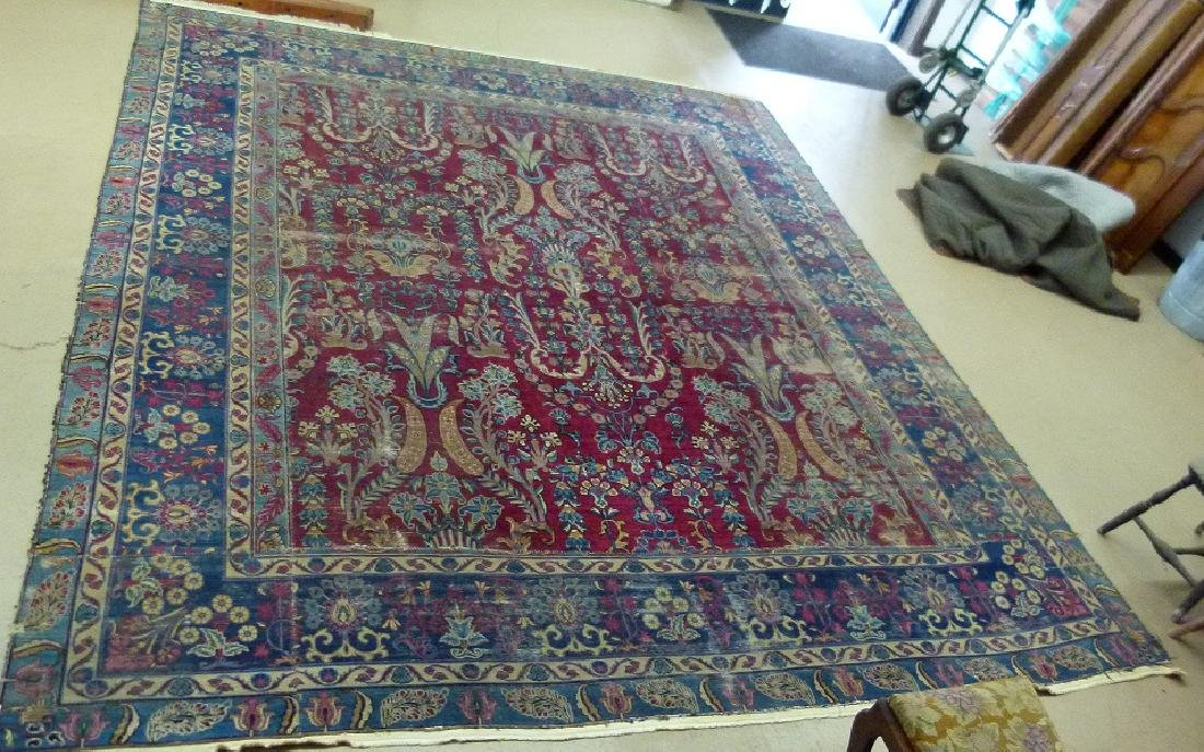 ANTIQUE SAROUK ORIENTAL CARPET (RE-SIZED)