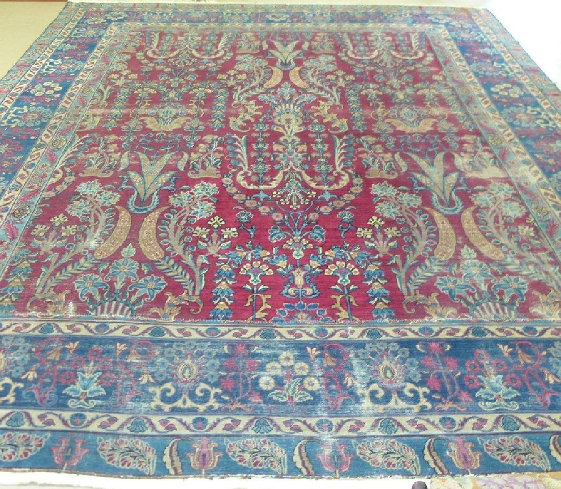 ANTIQUE SAROUK ORIENTAL CARPET (RE-SIZED) - 2
