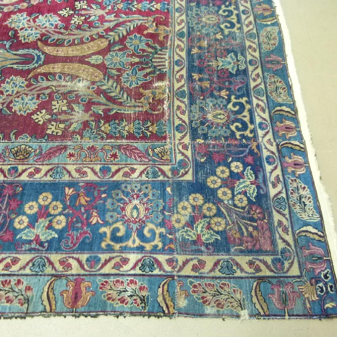 ANTIQUE SAROUK ORIENTAL CARPET (RE-SIZED) - 4