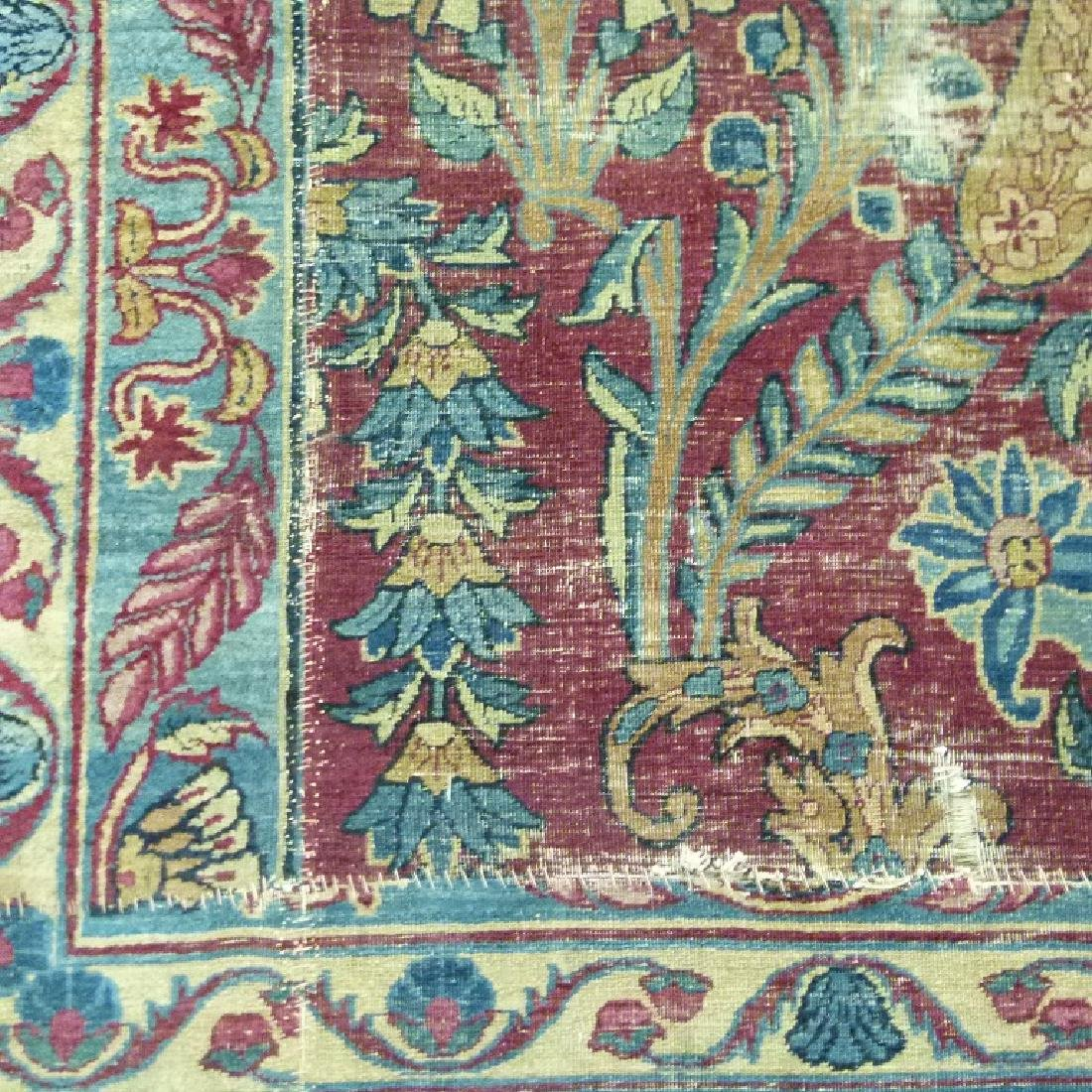ANTIQUE SAROUK ORIENTAL CARPET (RE-SIZED) - 7