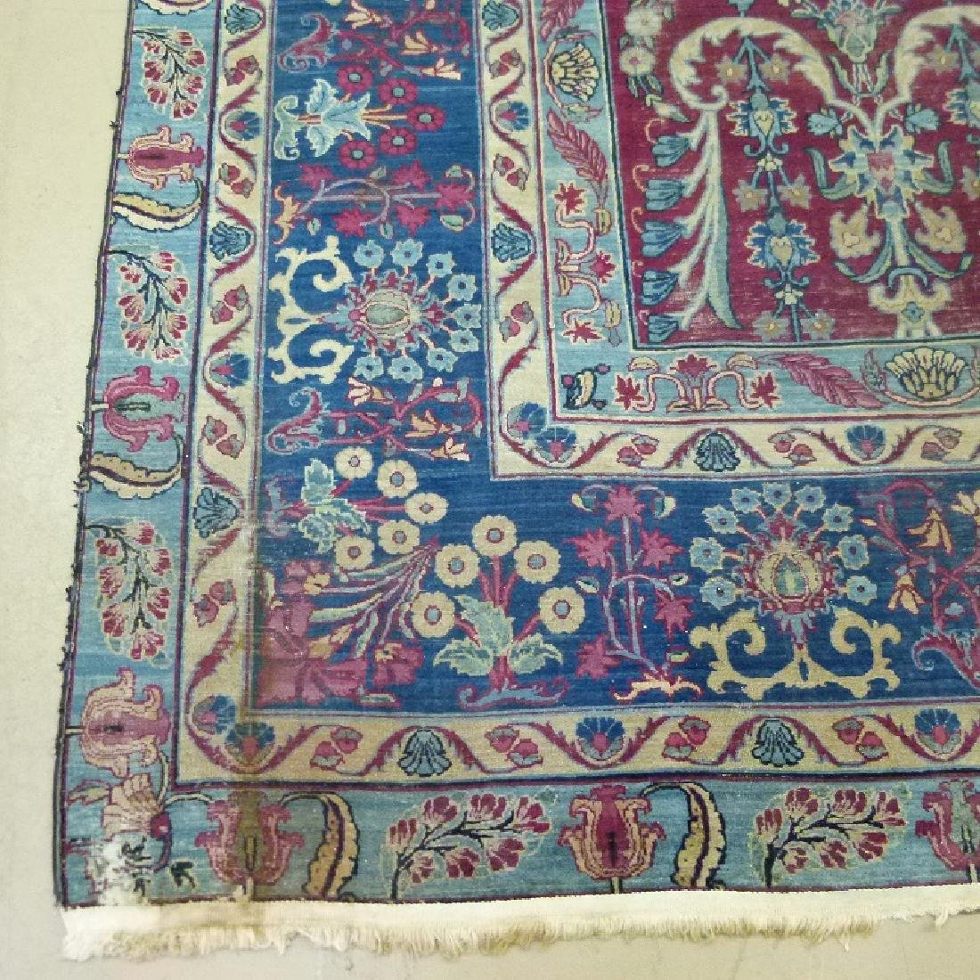 ANTIQUE SAROUK ORIENTAL CARPET (RE-SIZED) - 8