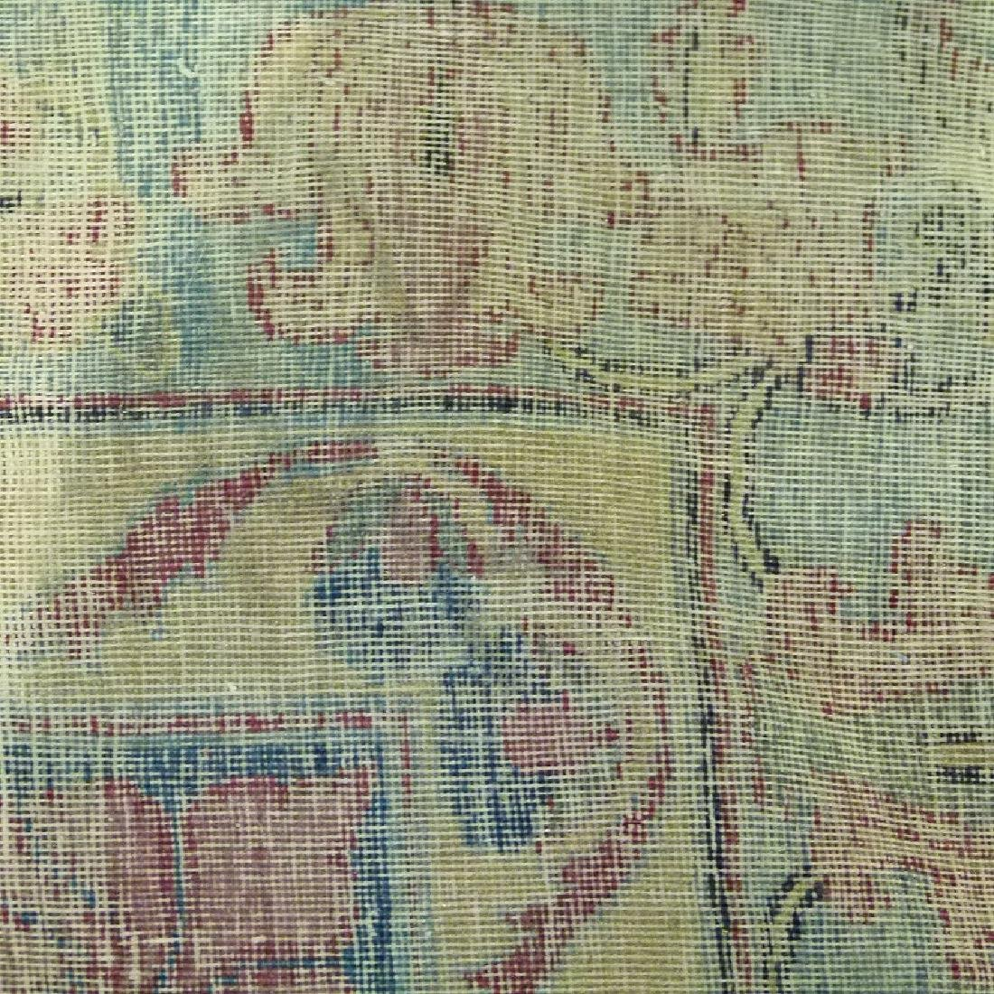 ANTIQUE SAROUK ORIENTAL CARPET (RE-SIZED) - 9