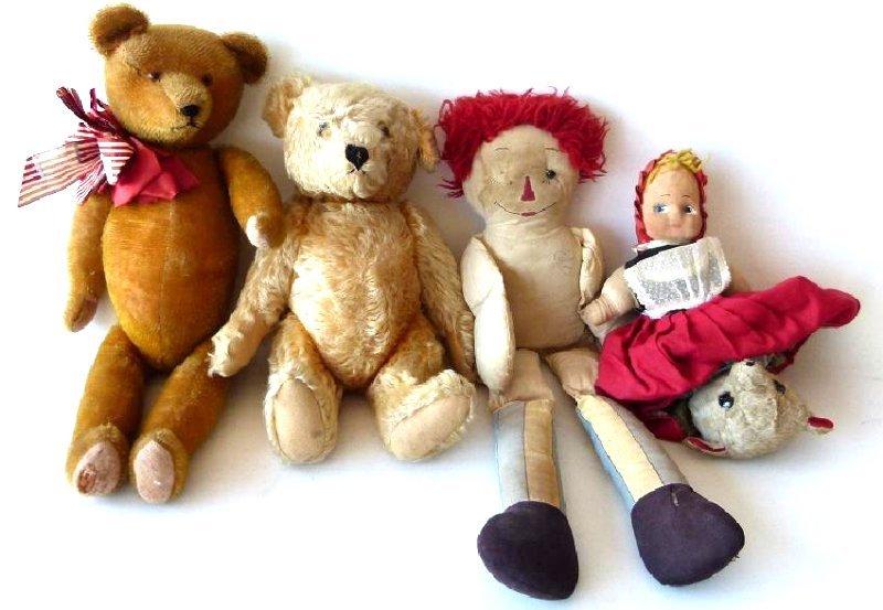 LOT ASSORT.  TEDDY BEARS/RAGGETY ANN