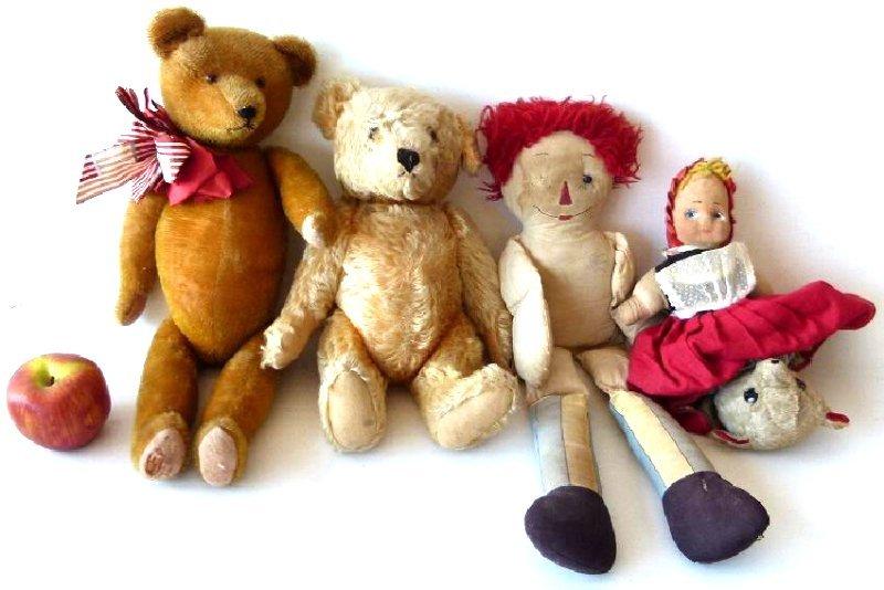 LOT ASSORT.  TEDDY BEARS/RAGGETY ANN - 2