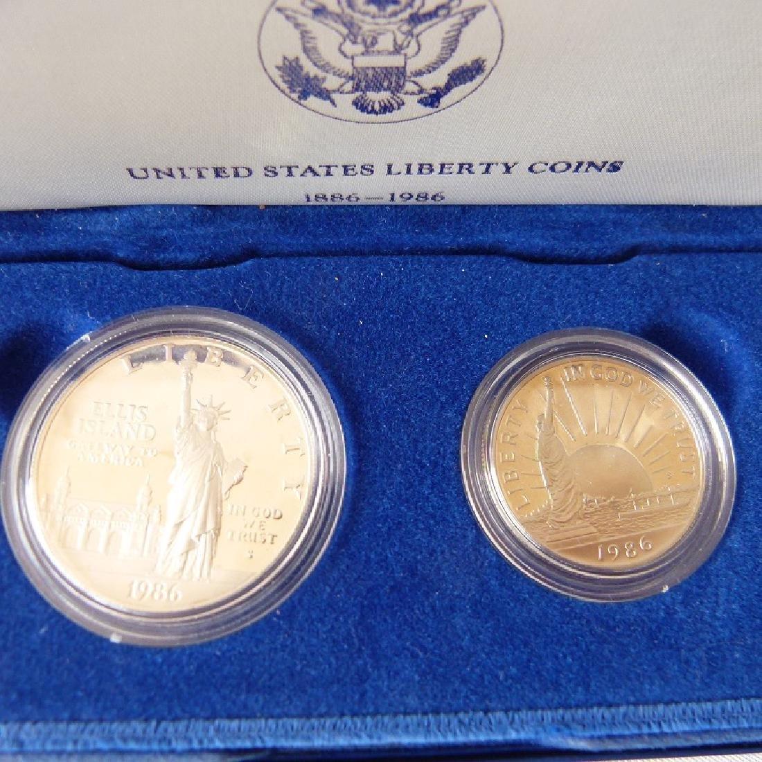 LOT (12) CASED SETS US COINS - 5