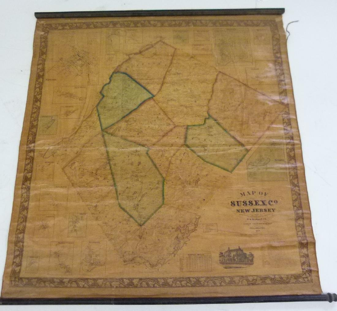 SUSSEX COUNTY  NEW JERSEY MAP, HOPKINS 1860 - 2