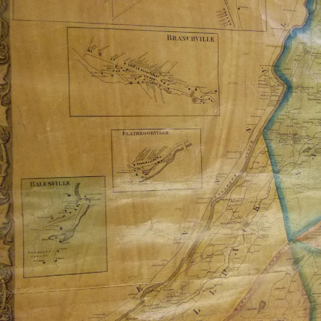 SUSSEX COUNTY  NEW JERSEY MAP, HOPKINS 1860 - 6