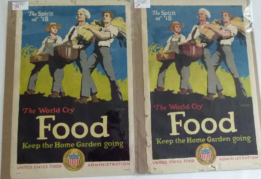 """LOT (2) LITHOS-POSTERS """"FOOD"""""""